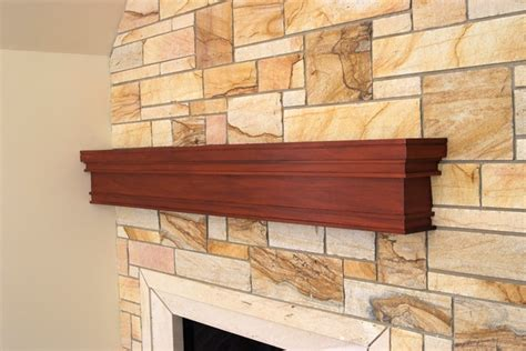 Mahogany Fireplace Mantel by Custom Mahogany Mantel Craftsman Fireplace Mantels Other Metro By Baird Brothers