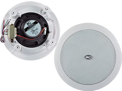 Ceiling Speaker Toa 6 Watt 6 quot ceiling speaker 1 25 2 5 5 10w 100v cutout 208mm edwards auckland