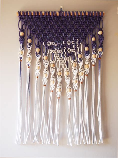 Macrame Wall Hanging Images - ouch flower dip dyed macram 233 wall hanging