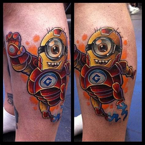 minion tattoo designs minion iron despicable me tattoos