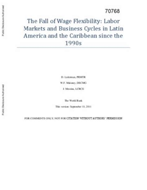 Labor Markets And Business Cycles by The Fall Of Wage Flexibility Labor Markets And Business