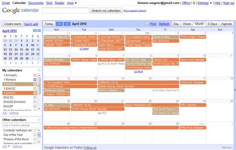 google calendar exle calendar template 2016