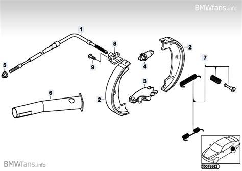bmw brake parts parking brake brake shoes bmw 3 e46 m3 csl s54 bmw