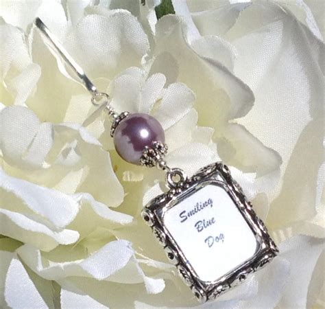 Wedding Bouquet Picture Charm by Wedding Bouquet Photo Charm Purple Pearl Memorial Picture