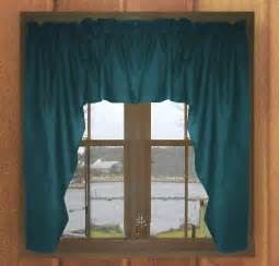 Solid Window Valances Solid Teal Colored Swag Window Valance Optional