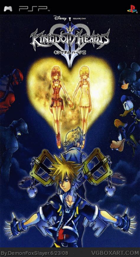 psp themes kingdom hearts 2 kingdom hearts ii psp box art cover by demonfoxslayer