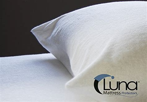 zippered pillow cover encasement waterproof bed bug proof luna premium hypoallergenic bed bug proof zippered