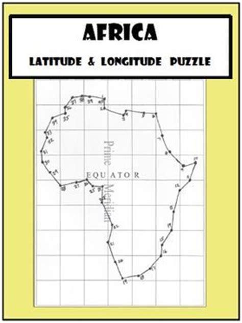 africa map with latitude and longitude latitude and longitude activity africa coordinates
