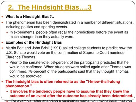 exle of hindsight bias 10 cognitive biases that distorts your thinking
