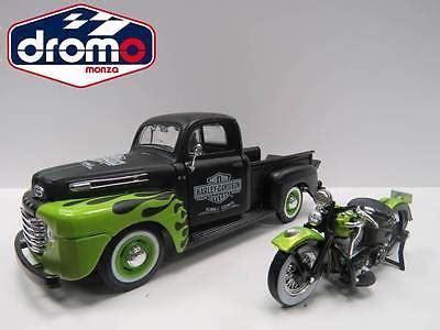 Maisto H D Custom 1948 Ford F 1 1948 Fl Panhead 124 auto furgoni camion modellismo statico giocattoli e
