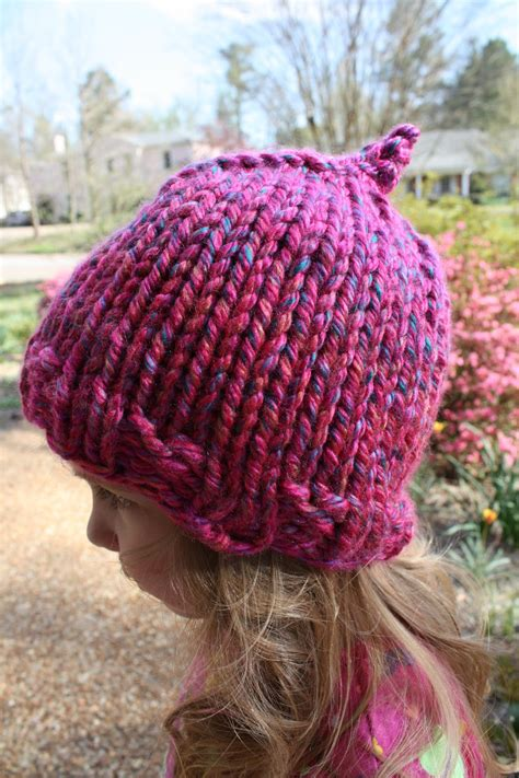free knitting pattern childs hat snapdragon crafts bulky child hat knitting pattern