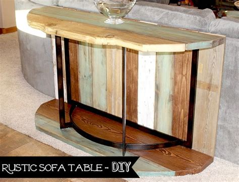 diy rustic sofa table rustic sofa table rebuilding recycling and reclaiming