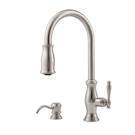 price pfister gt529 yp pull out kitchen faucet pfister gt529 tms hanover single handle pull down kitchen