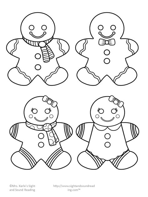 small printable gingerbread man small gingerbread man template