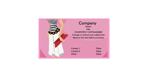 High Fashion Boutique Business Card Template Zazzle Clothing Store Business Card Templates