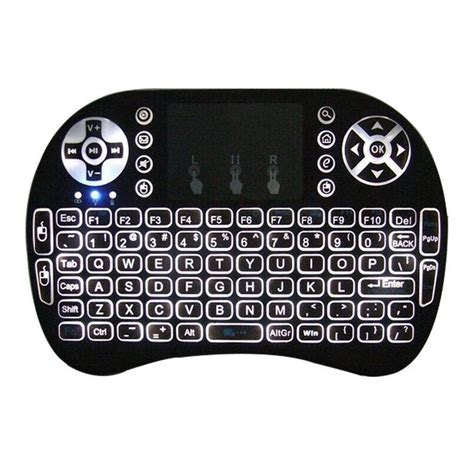 Mini Keyboard Wireless I8 With White Backlight mini i8 2 4ghz warm white backlight wireless keyboard with touchpad black no tmart