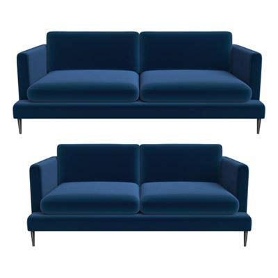 jasper conran sofa j by jasper conran 3 seater and 2 seater velvet ellsworth
