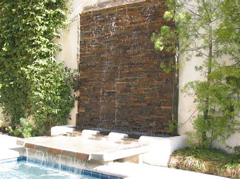 backyard water wall make your house features stunning