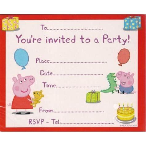 Peppa Pig Invitation Card Template by Peppa Pig Birthday Invitations Template Free Invitations