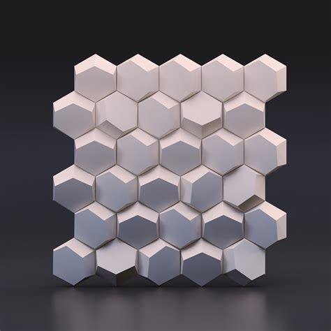 design zd hexago 3d panel ścienny gipsowy 53x53 panele ścienne zd