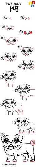 how to draw a pug easy how to draw a pug for hub for and pug