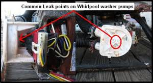 Leaking Dishwasher Underneath Whirlpool Washer Leaking Repair Guide