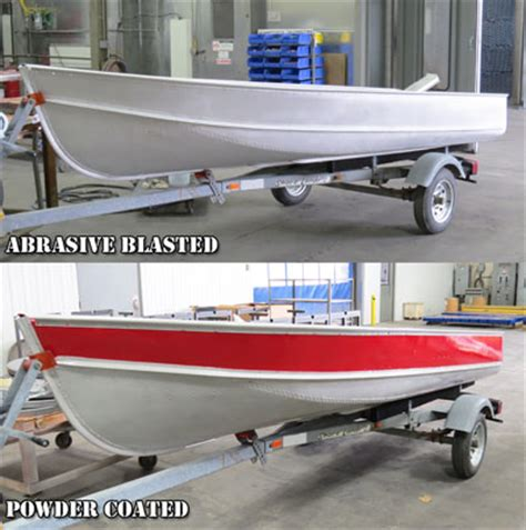 aluminum boat hull coating powder coating photos indianapolis indiana ids blast