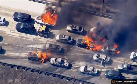 cajon pass fire 20 cars torched 4 homes lost in fast moving cajon pass