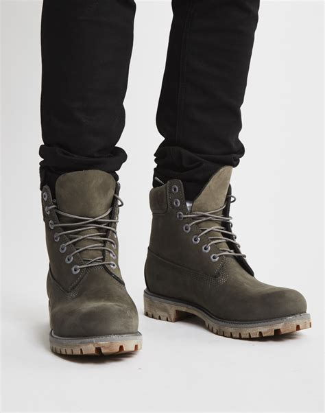 timberland icon 6 quot premium boot grey in gray for lyst