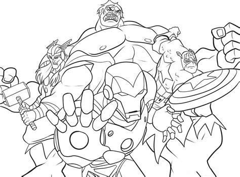 free coloring pages of marvel hero squad