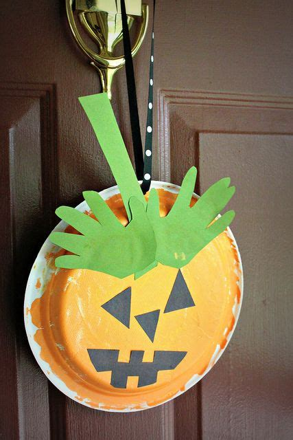 pumpkin paper plate craft paper plate pumpkin grade crafts