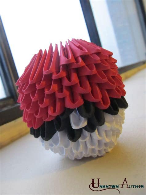 Pokeball Origami - 3d origami pokeball by jobe3do on deviantart