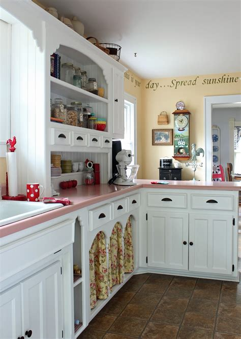 Pink Countertops Kitchen by Catherine Holman Folk Living With Pink Kitchen