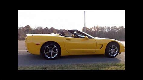 2001 corvette wheels 2001 corvette c5 yellow convertible with grand sport rims