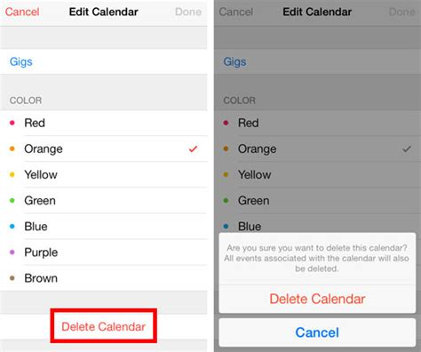 Delete Calendar Add And Delete Calendars On The Iphone With Ios 7 The