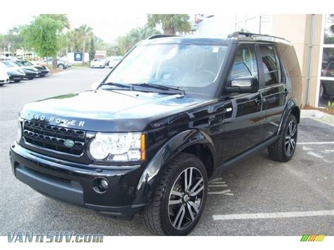land rover lr4 black 2011 land rover lr4 hse in santorini black metallic photo