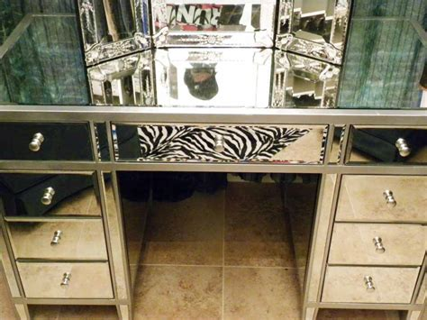 Mirrored Makeup Vanity Table Makeup Vanity On Antique Vanity Makeup Vanities And Vanities