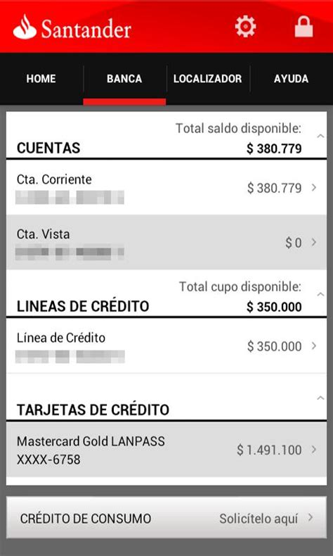 banco santander app santander chile android apps on play