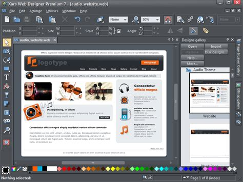 templates for xara web designer xara releases new web designer 7 and web designer 7 premium
