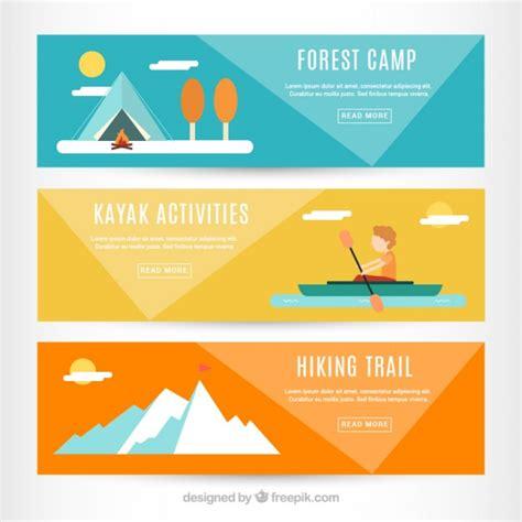 banner design inspiration vector adventure banners in flat design vector free download