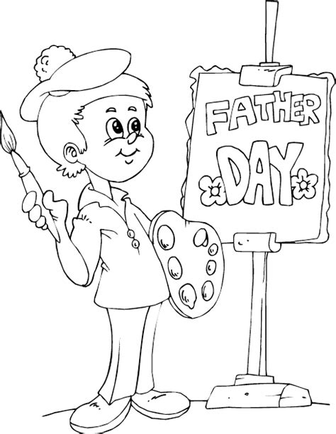 painting coloring painter coloring page coloring