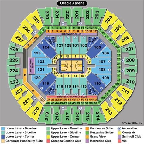 oracle arena warriors seating chart golden state warriors tickets 2017 2018 warriors tickets