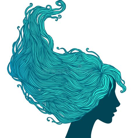 long hair stock photos royalty free images vectors woman in profile view with long hair stock vector