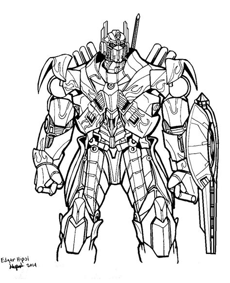 Transformers 5 Coloring Pages by Optimus Prime Age Of Extinction By Godzillafan1954 On