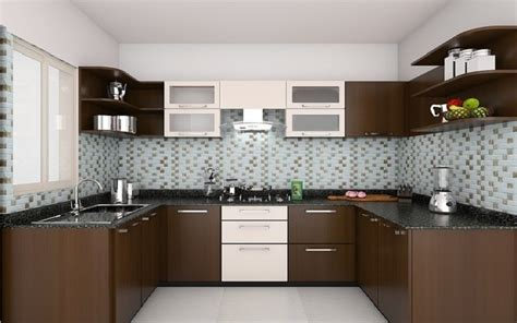 Open Kitchens Designs by Indian Modular Kitchen Design U Shape Interior Design
