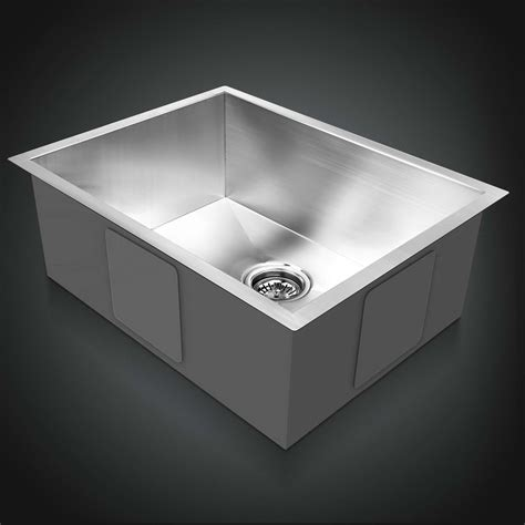 kitchen sink colander 600x450mm handmade stainless steel sink single under