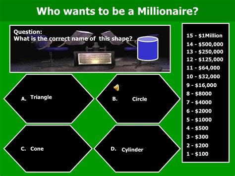 who wants to be a millionaire geometry