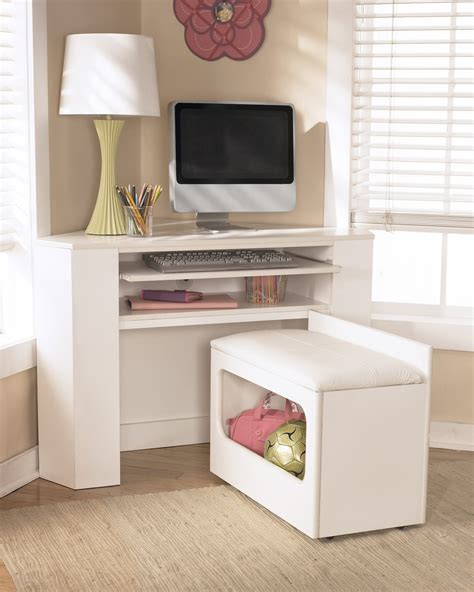 Corner Desk With Drawers Small L Shaped White Best Home Corner Desks For Bedrooms