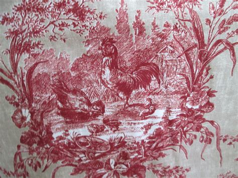 Upholstery Edging Trim French Toile Fabric 2 1 2 Yards Linen Blend By Menageriemall