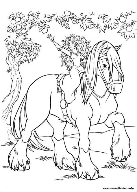 coloring pages of disney horses merida legende der highlands malvorlagen